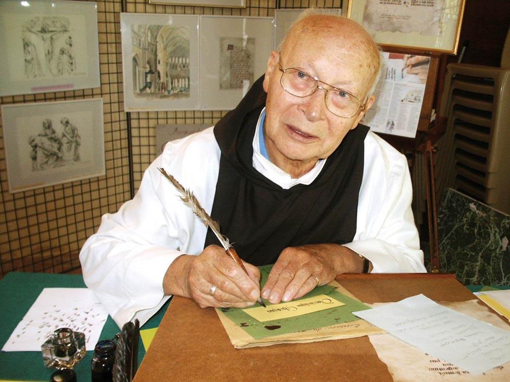 Bernard Marion et la caligraphie